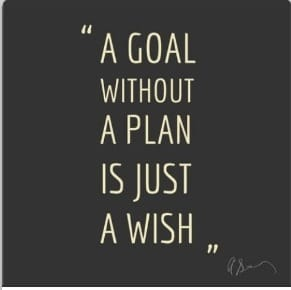 goal without a plan