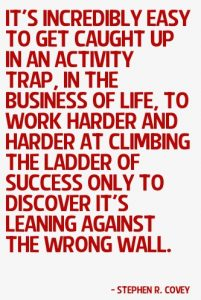 Activity Trap Quote Covey
