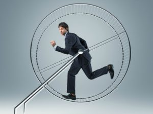 Man in Hamster Wheel Activity Trap small