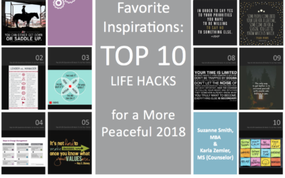 Favorite Inspirations: Top 10 Life Hacks for a More Peaceful 2018