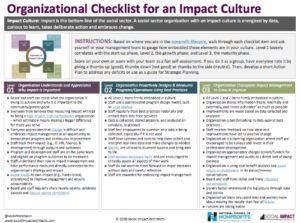 Impact Culture Checklist pic