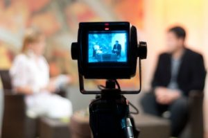 Talk Show Host On Camera Interview small